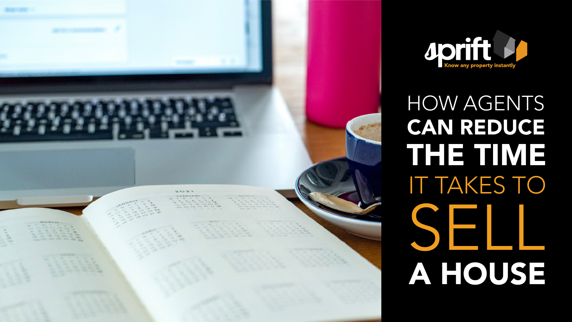 Calculating-average-time-to-sell-a-house-laptop-wooden-table-calendar
